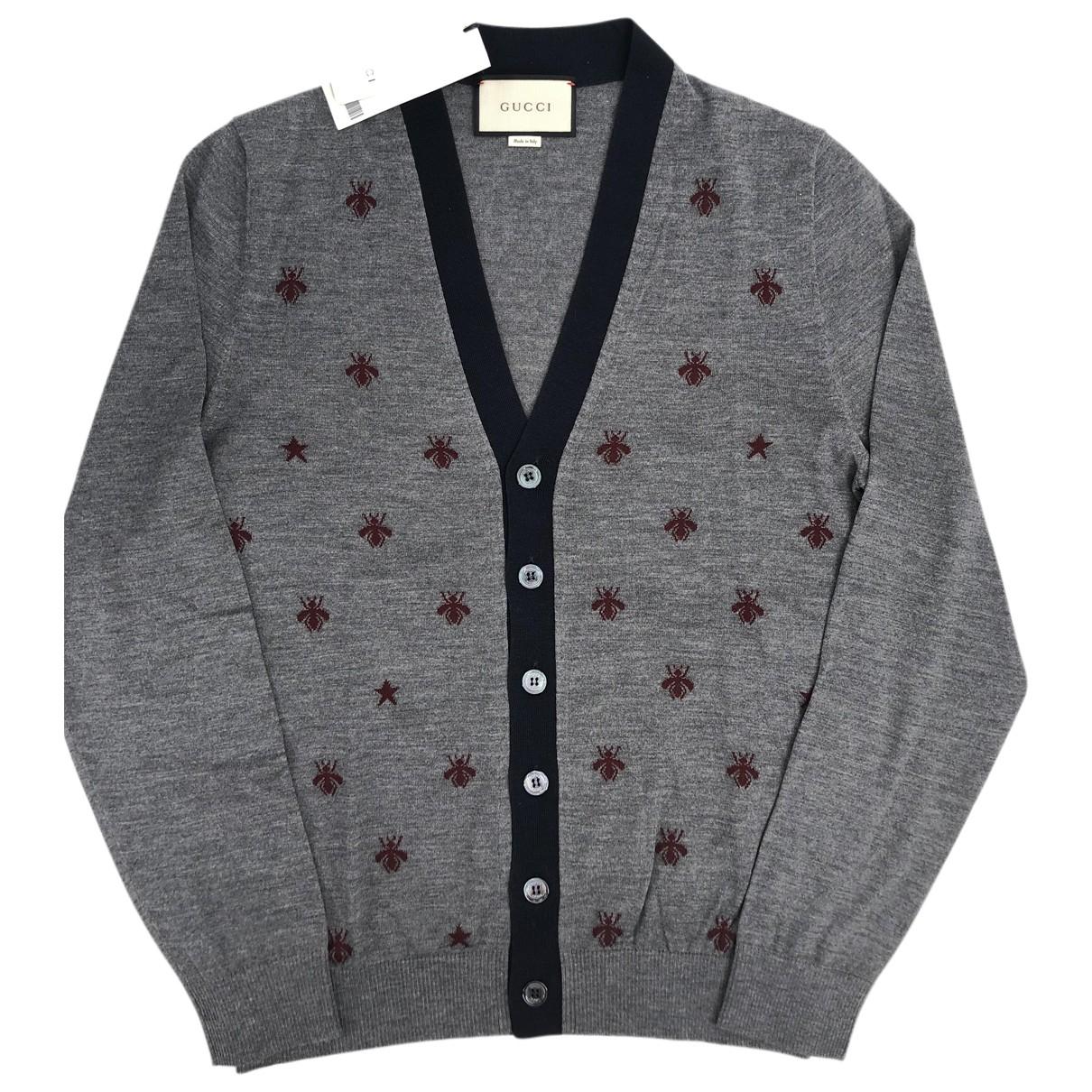 Gucci - Pulls.Gilets.Sweats   pour homme en laine - gris