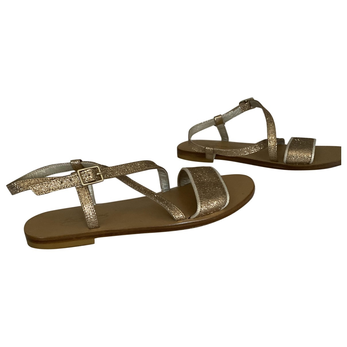 Bonpoint \N Gold Glitter Sandals for Kids 34 EU