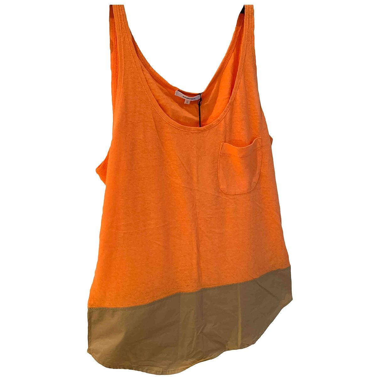 Carven \N Orange Cotton  top for Women L International