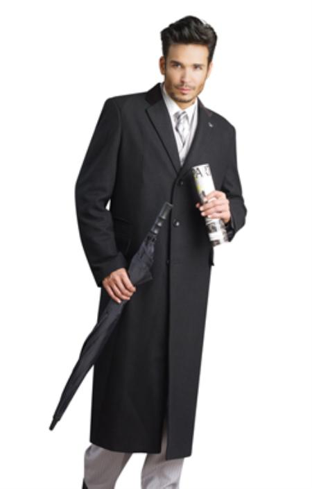 Mens Black Stylish Overcoat