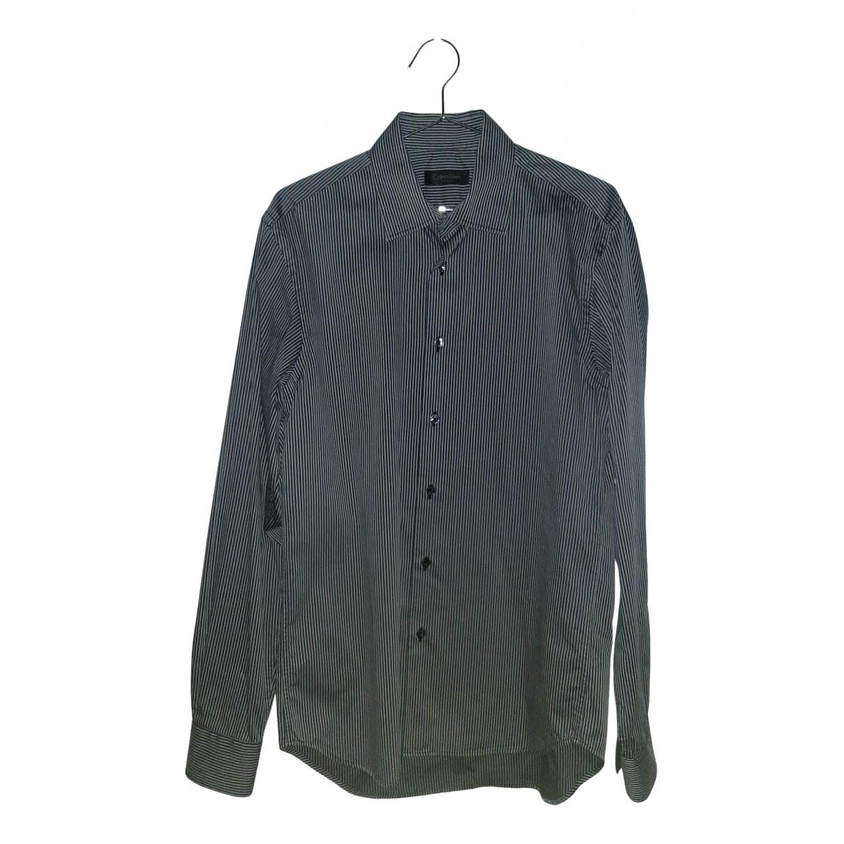Calvin Klein Collection - Chemises   pour homme en coton - gris