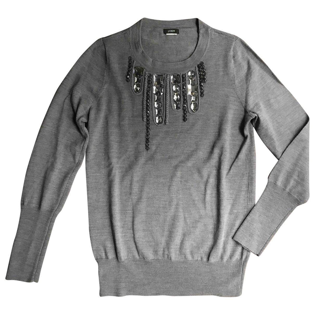 J.crew - Pull   pour femme en laine - gris