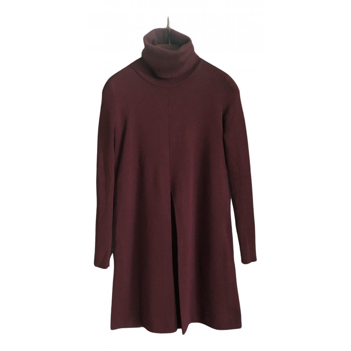 Roberto Collina - Robe   pour femme en laine - bordeaux