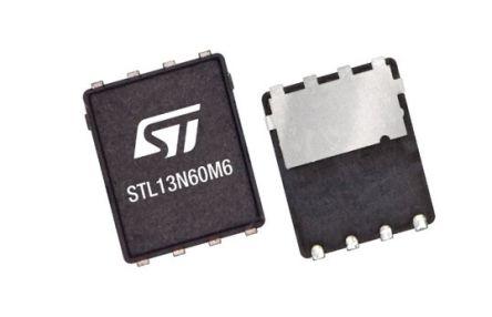STMicroelectronics N-Channel MOSFET Transistor, 5.5 A, 8-Pin PowerFLAT™  STL10N60M6 (3000)