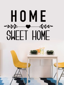 Letter Graphic Wall Sticker