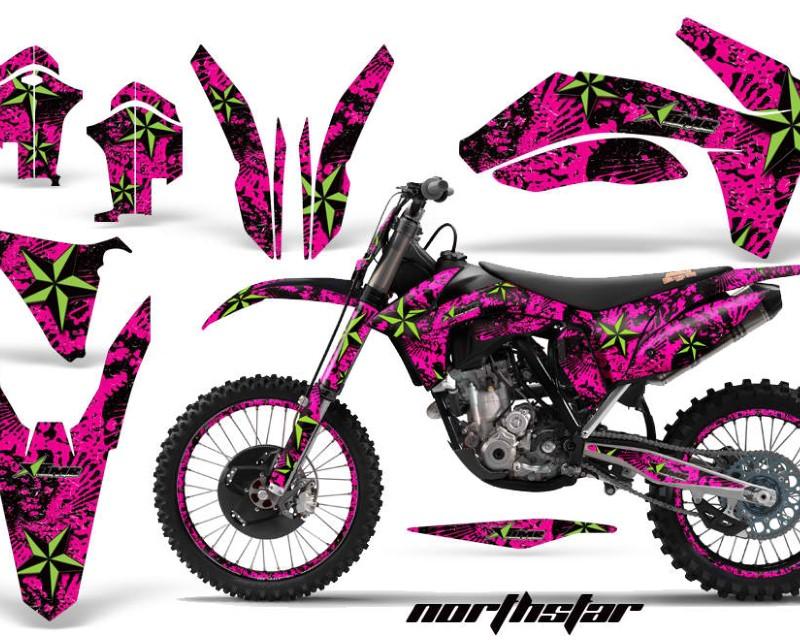 AMR Racing Graphics MX-NP-KTM-C7-11-13-NS G P Kit Decal Sticker Wrap + # Plates For KTM SX/SX-F/XC/EXC/XFC-W 2011-2013áNORTHSTAR GREEN PINK