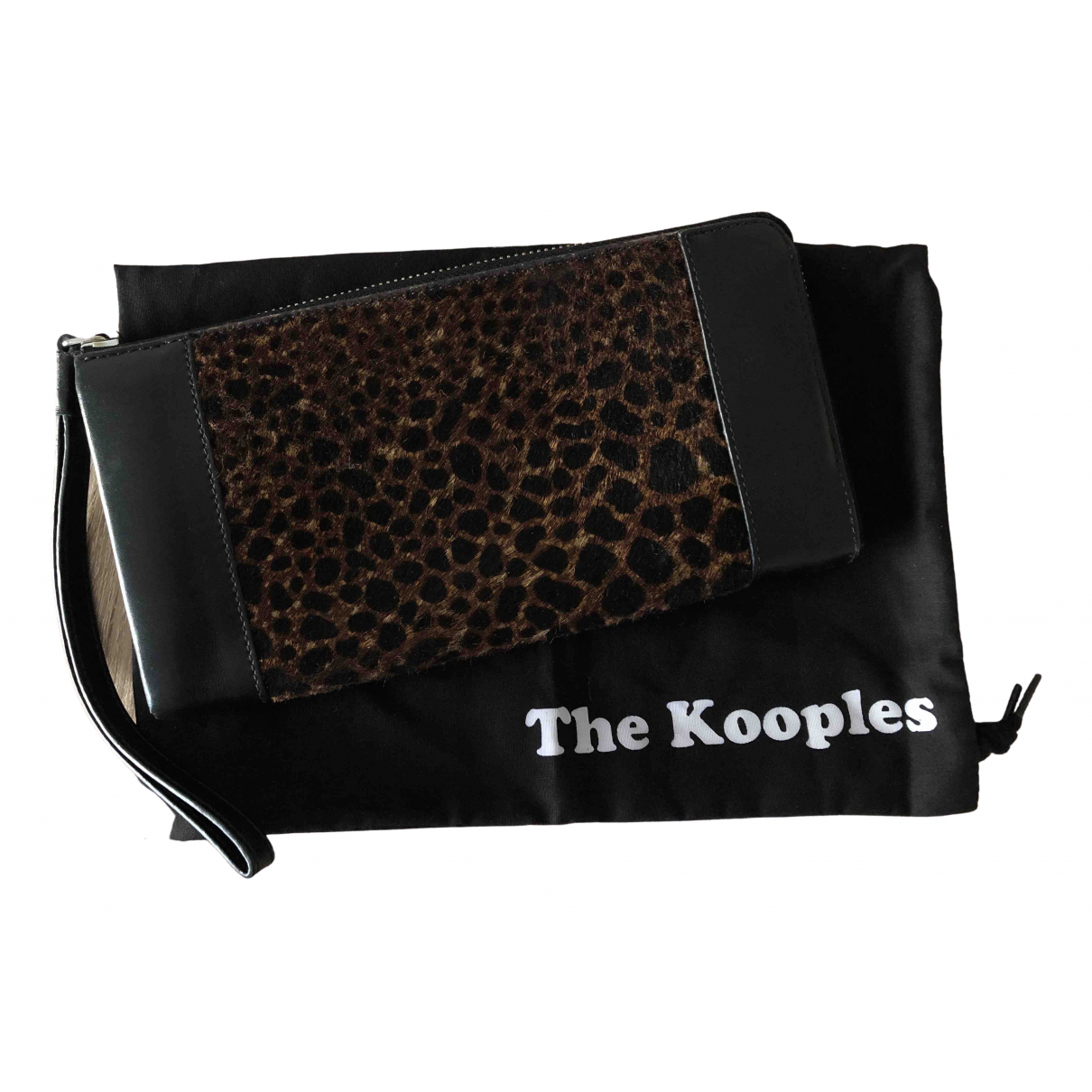The Kooples \N Black Leather wallet for Women \N