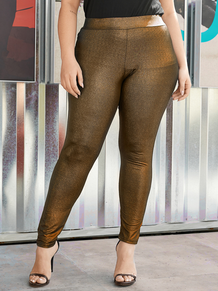 Yoins Plus Size Glitter Pants
