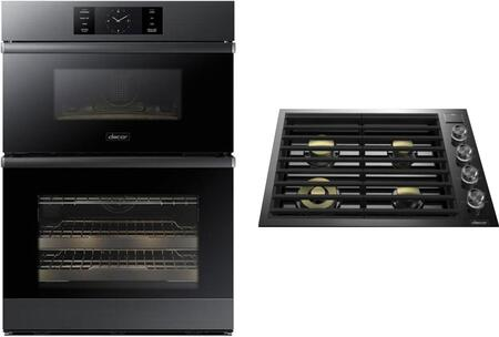 2 Piece Kitchen Appliance Package with DOC30M977DM 30