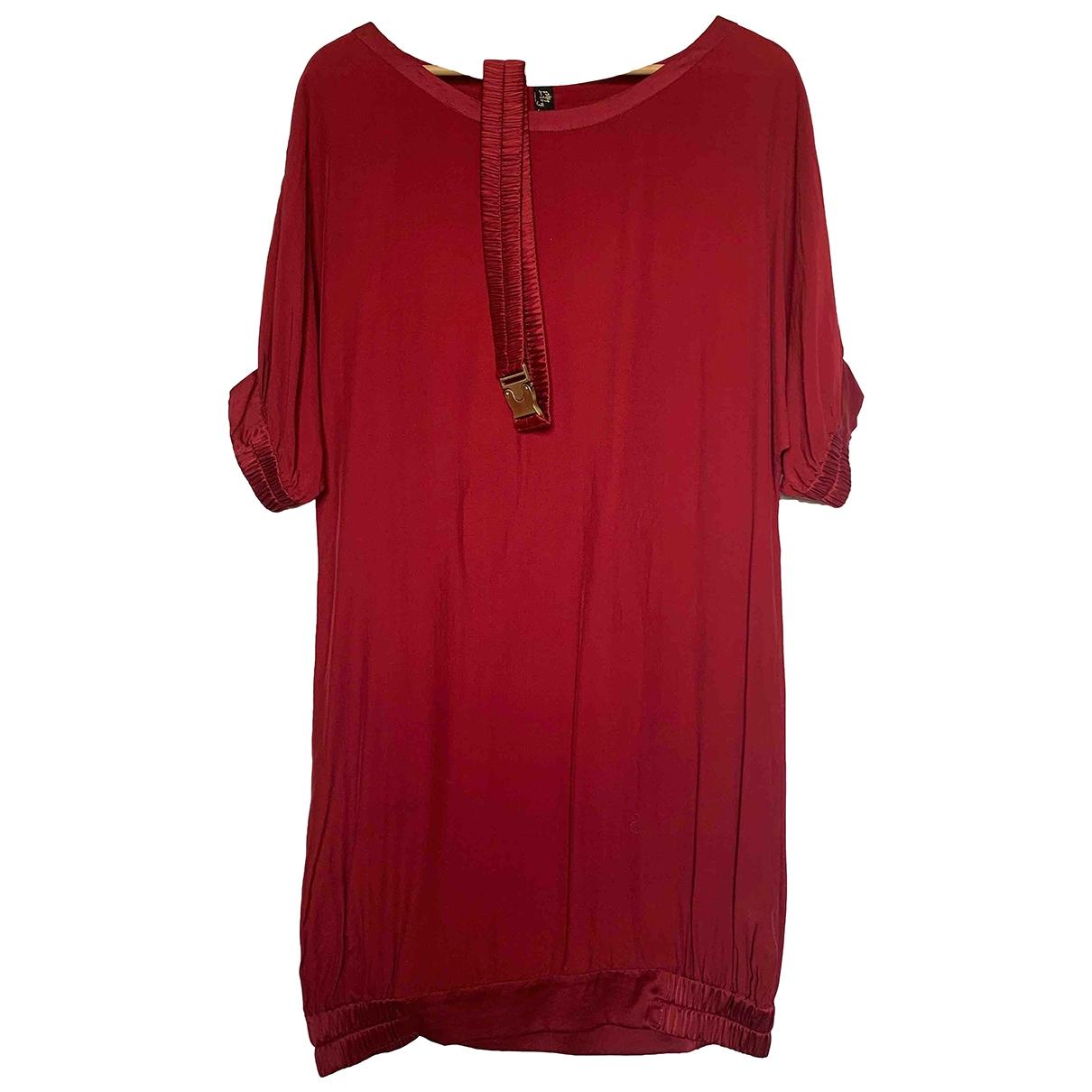 Non Signe / Unsigned \N Kleid in  Bordeauxrot Baumwolle