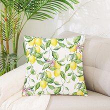Kissenbezug mit Zitrone Muster