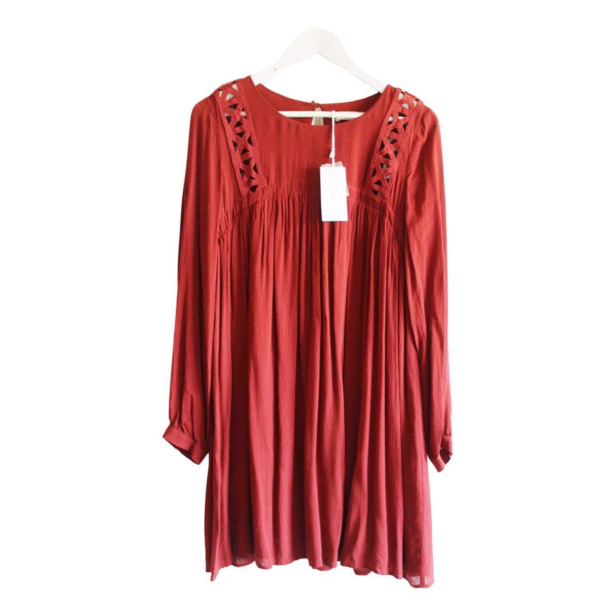 Ba&sh Fall Winter 2019 Kleid in  Rot Viskose