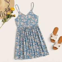 Floral Print Cami Mini Dress