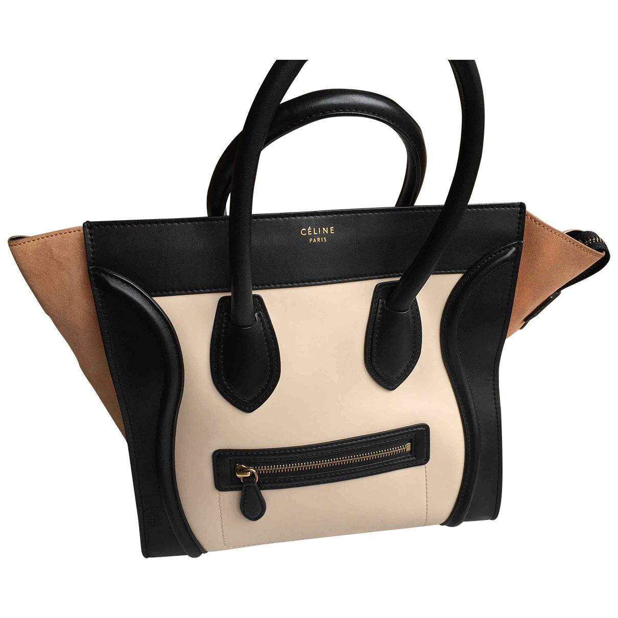 Celine Luggage Ecru Leather handbag for Women \N