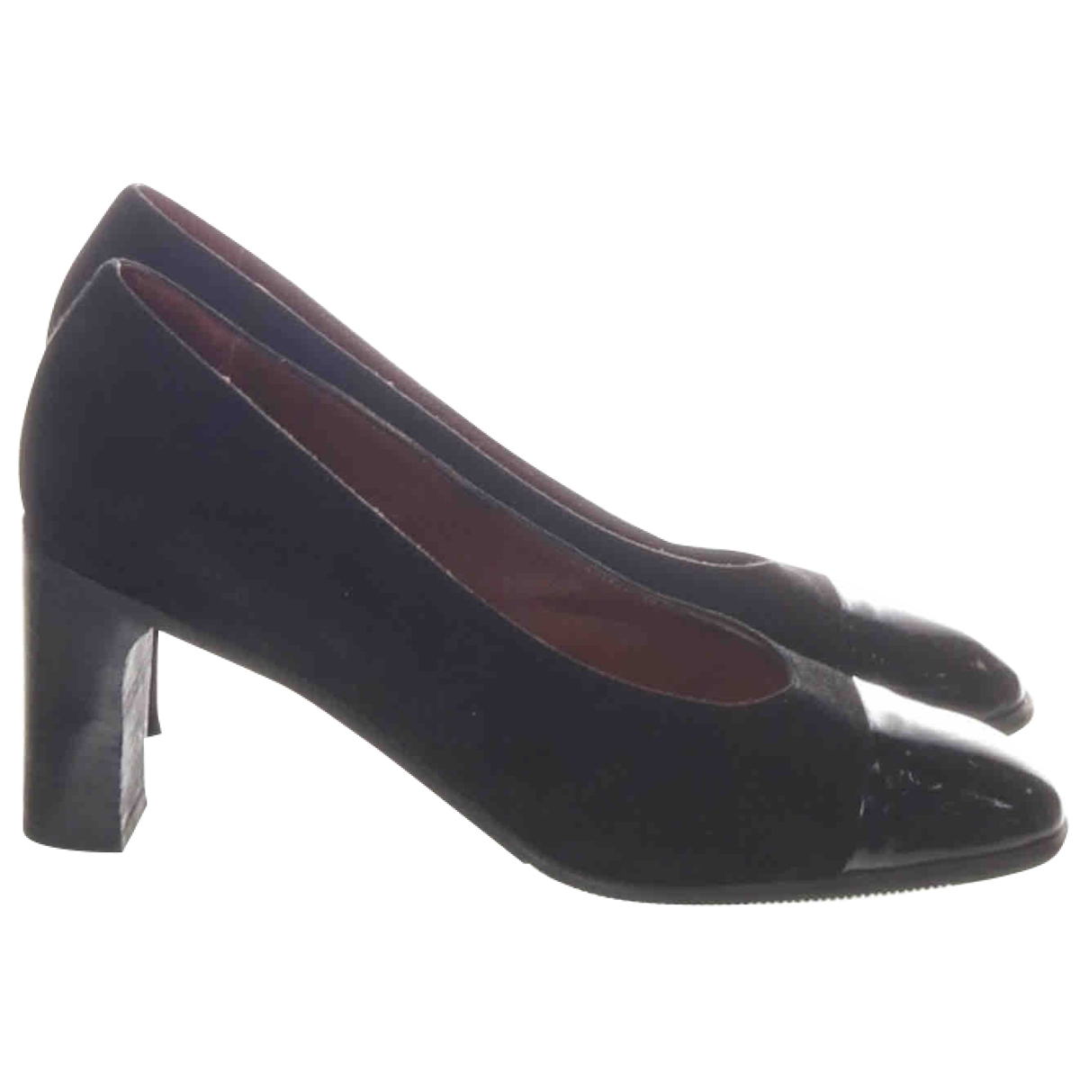 Non Signé / Unsigned \N Black Suede Heels for Women 38 EU