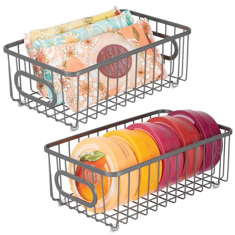 Metal Bathroom Storage Organizer Basket in Graphite, 10.1