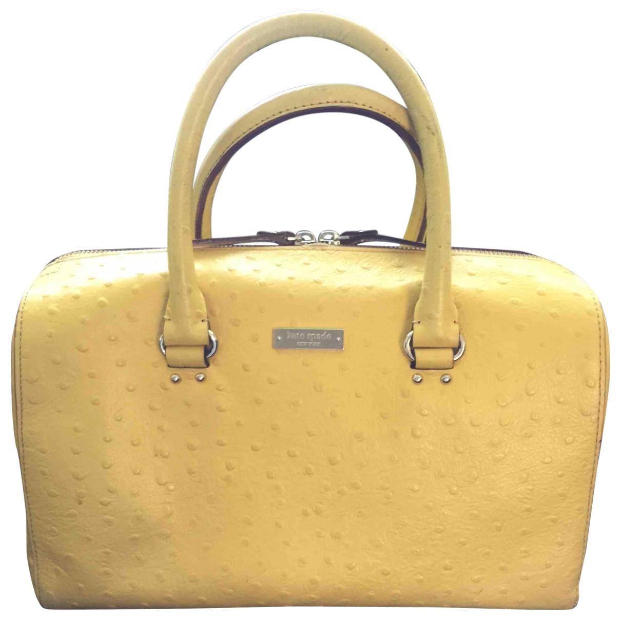 Kate Spade \N Handtasche in  Gelb Leder