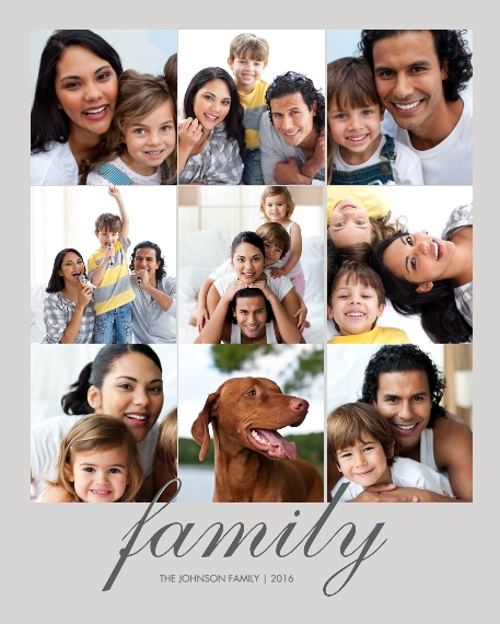 Family 16x20 Wood Panel, Home Décor -Family Classic