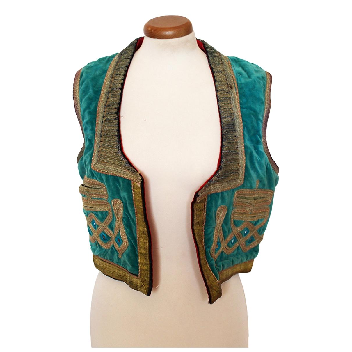 Non Signé / Unsigned \N Turquoise Velvet jacket for Women 40 FR