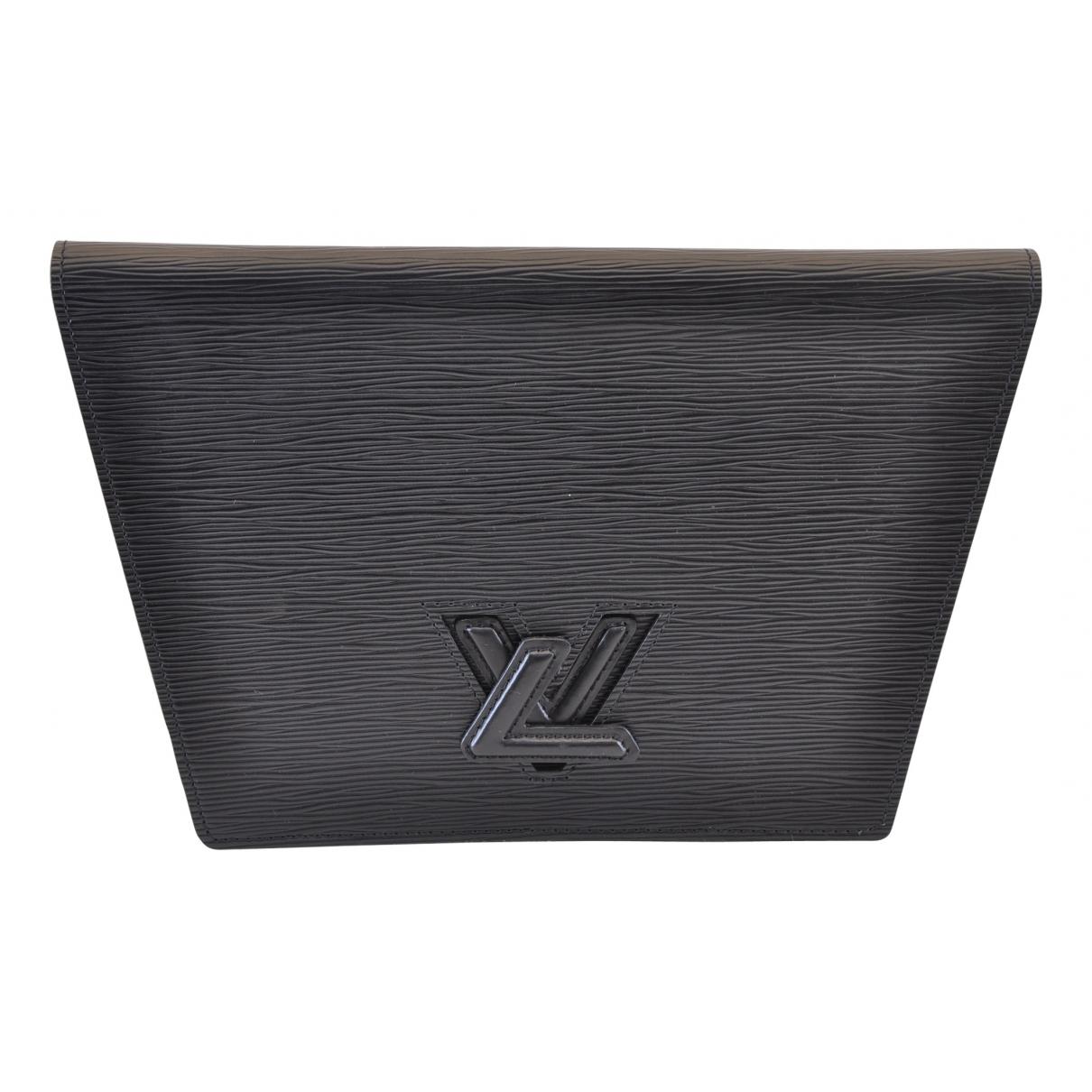 Louis Vuitton - Pochette Trapeze pour femme en cuir - noir