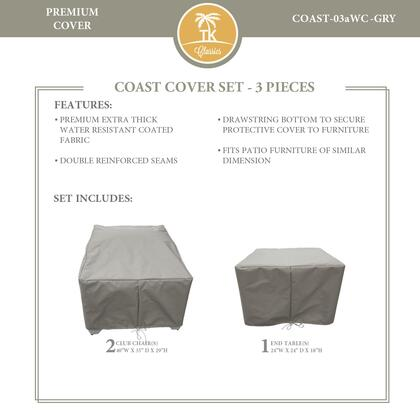 COAST-03aWC-GRY Protective Cover Set  for COAST-03a in