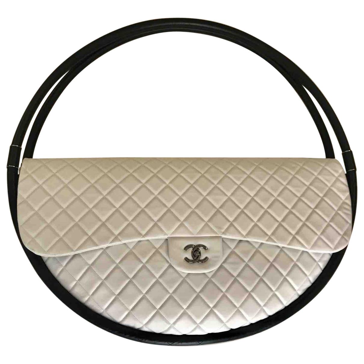 Chanel - Sac a main Hula Hoop pour femme en cuir - blanc
