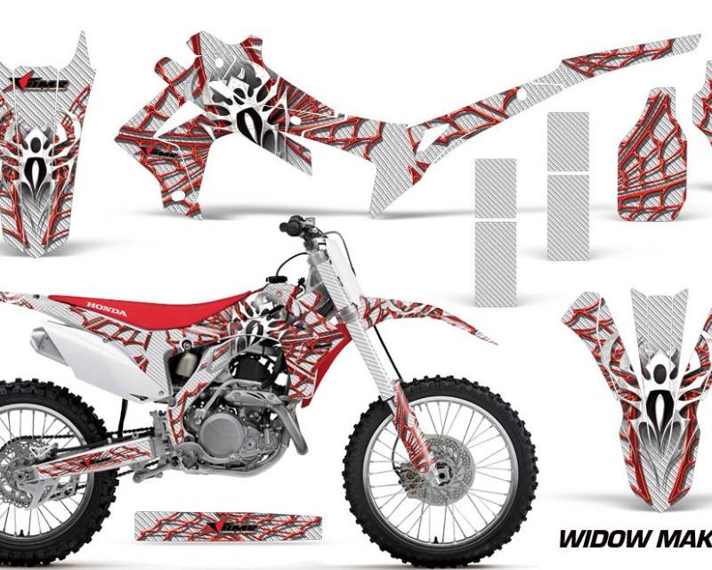 AMR Racing Dirt Bike Graphics Kit Decal Sticker Wrap For Honda CRF450R 2013-2016áWIDOW RED WHITE