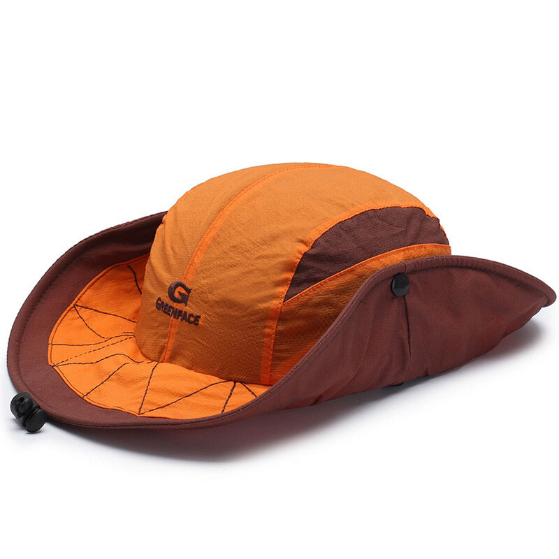 Men Woman Quick-drying Fisherman Hat Foldable Visor Hat With Embroidery
