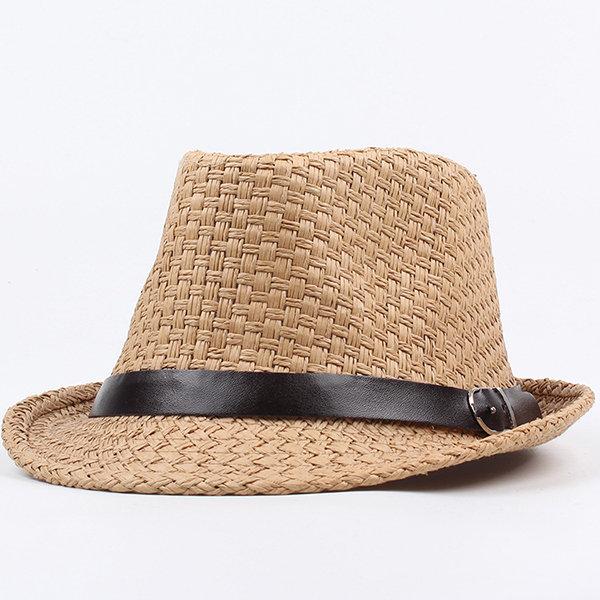 Men Women Vintage Straw Cowboy Hat Vacation Beach Sun Hat Outdoor Fishing Visor Hats