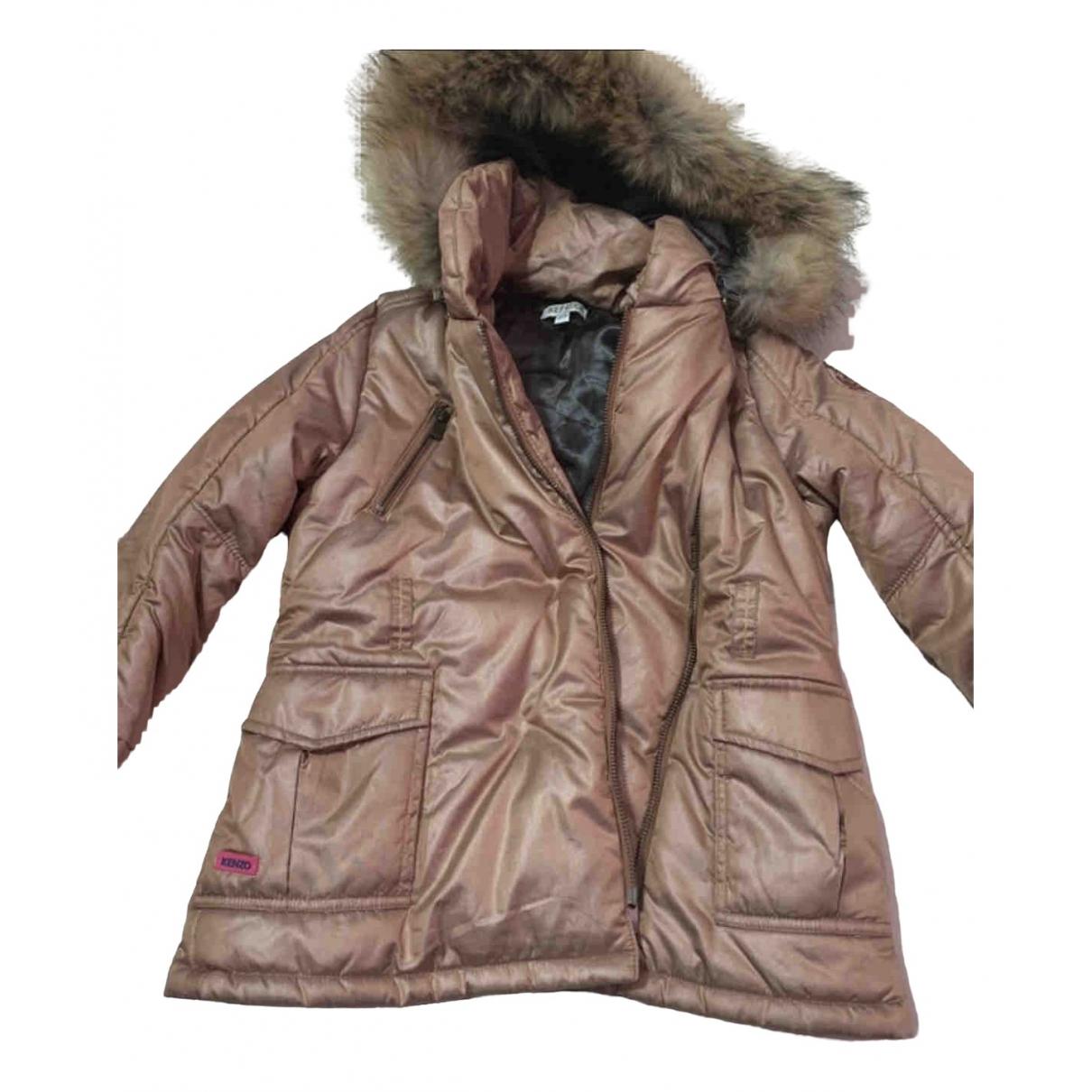 Kenzo - Blousons.Manteaux   pour enfant en coton - marron