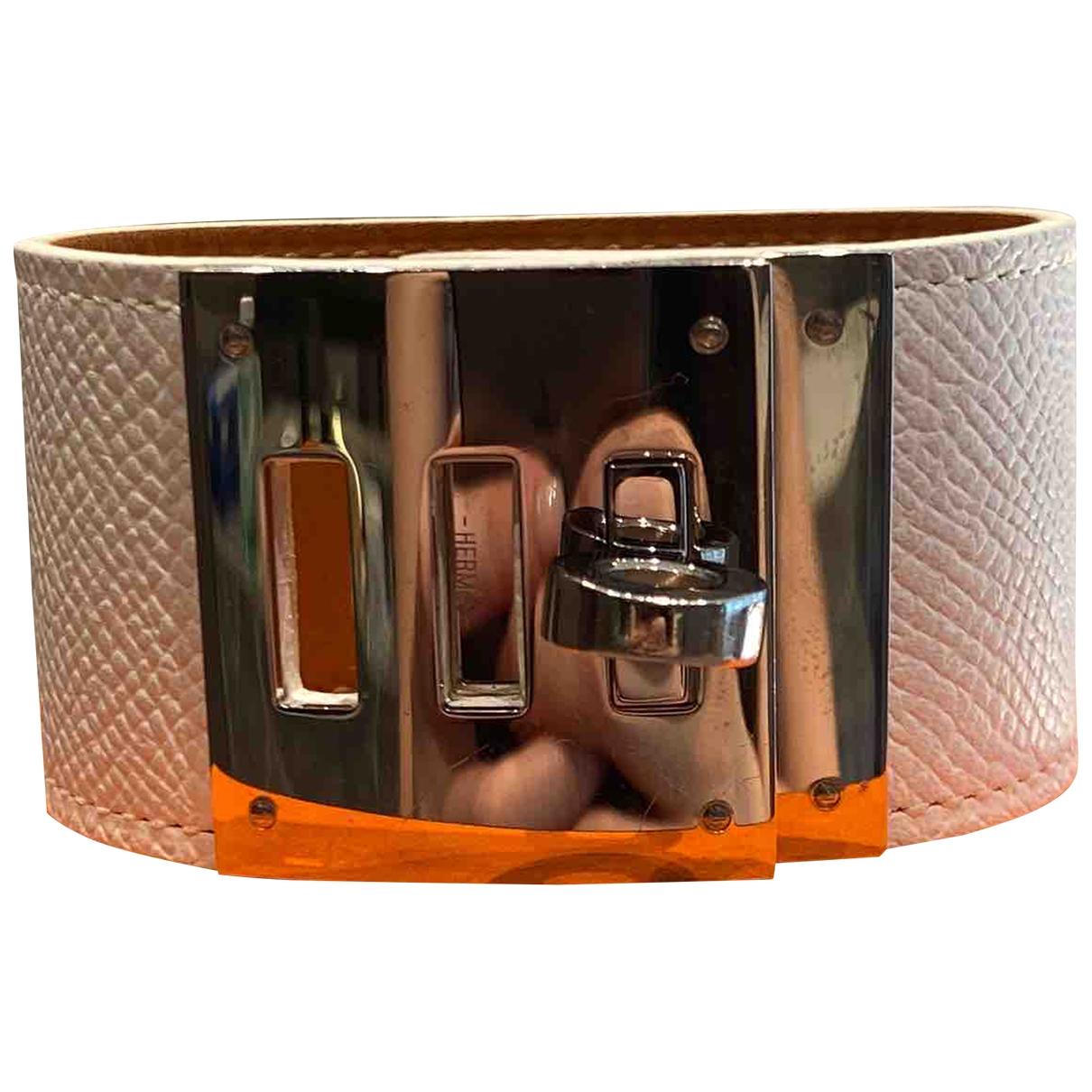 Hermes - Bracelet Kelly pour femme en cuir - blanc