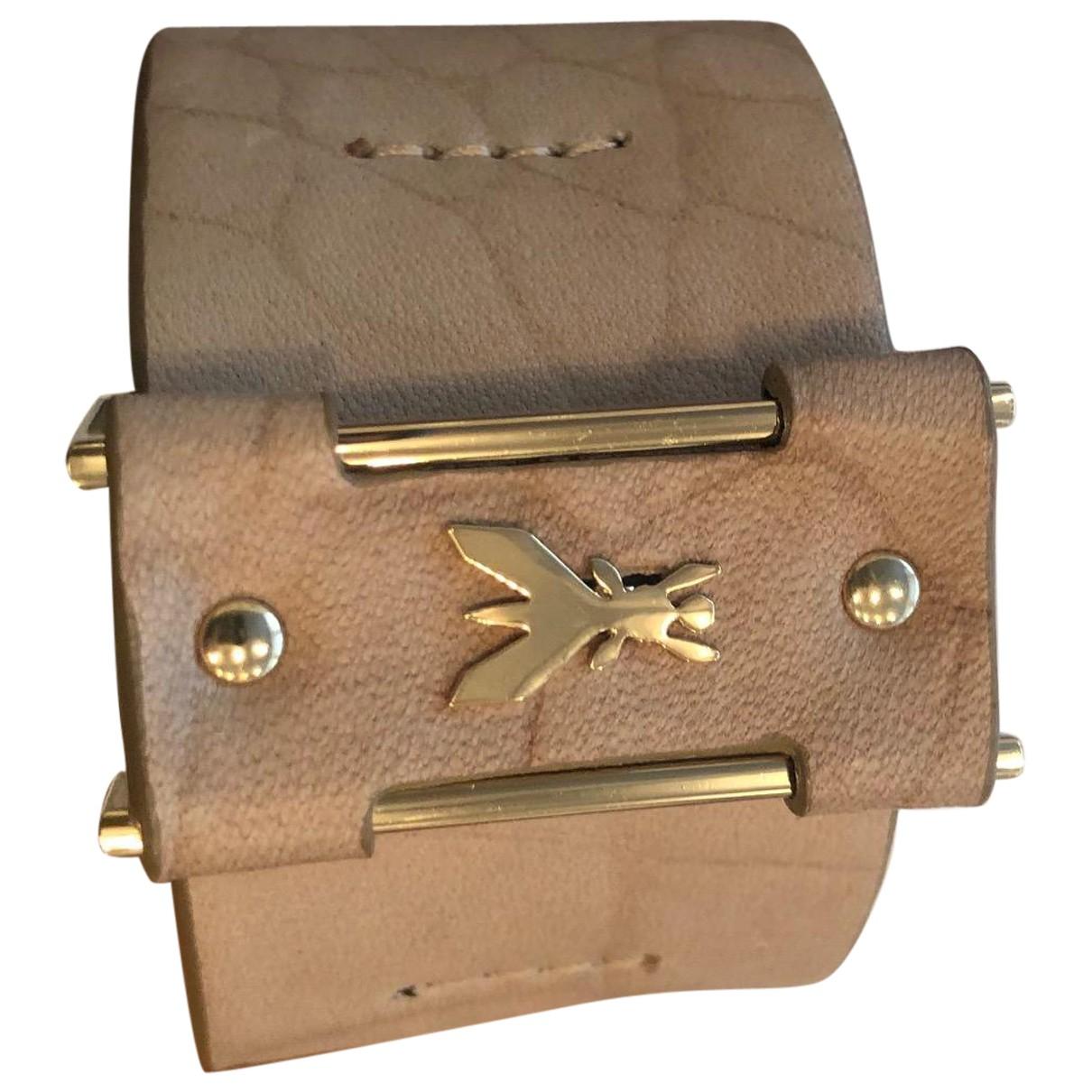 Patrizia Pepe - Bracelet   pour femme en cuir - beige