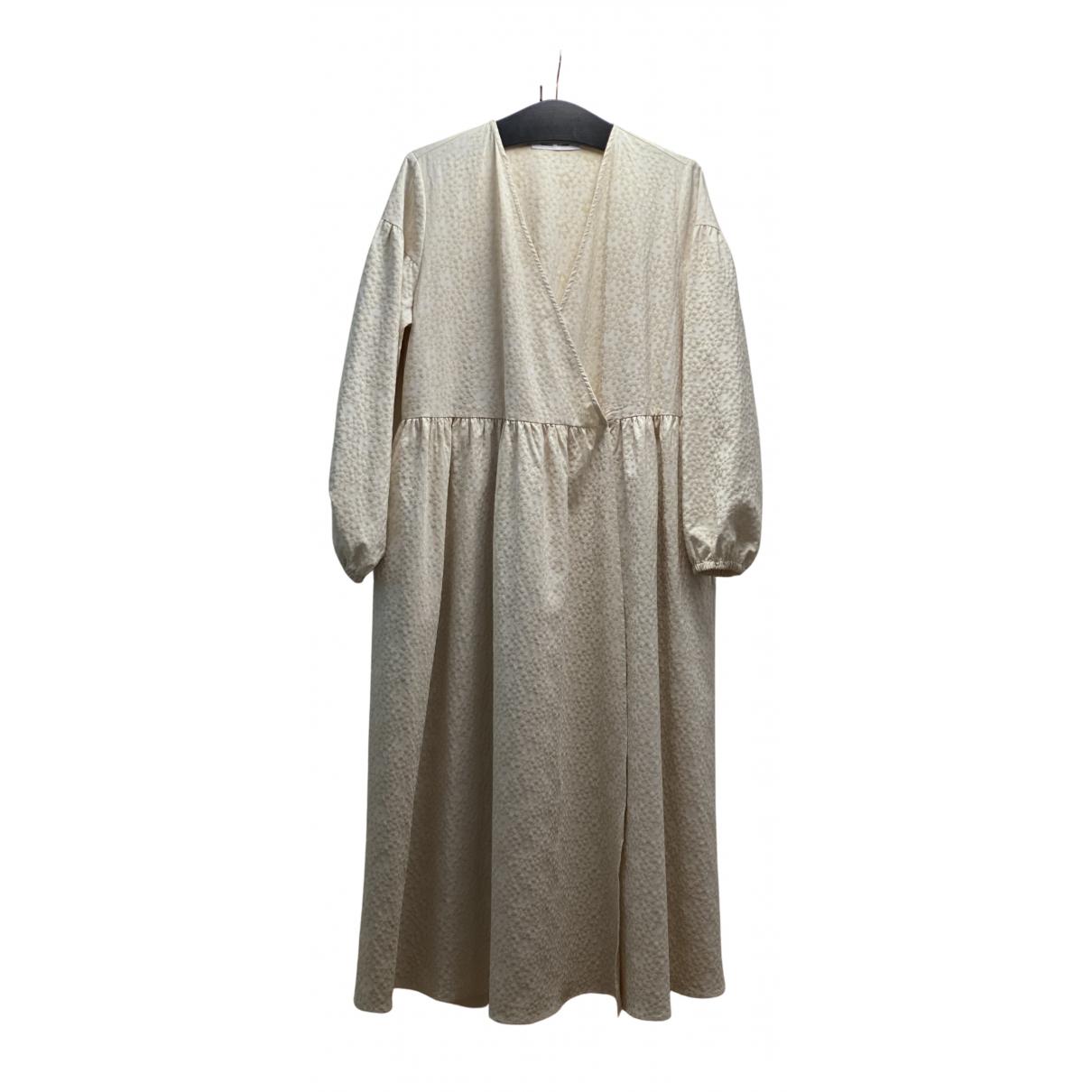 Samsoe & Samsoe \N Kleid in  Beige Polyester