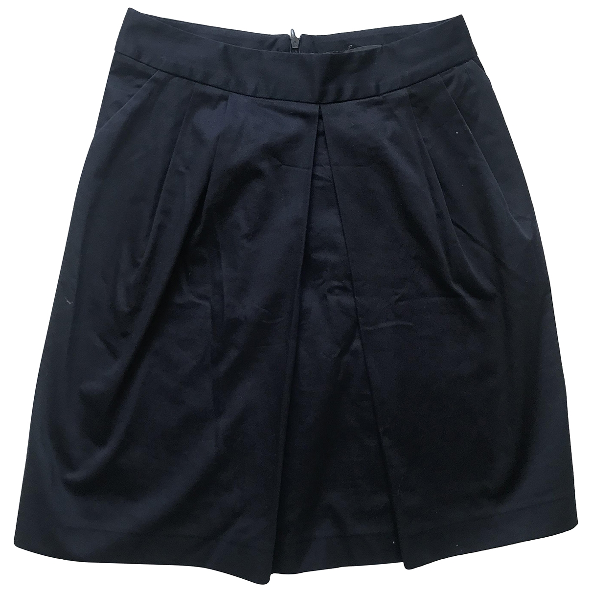 Tara Jarmon \N Navy Cotton skirt for Women 38 FR