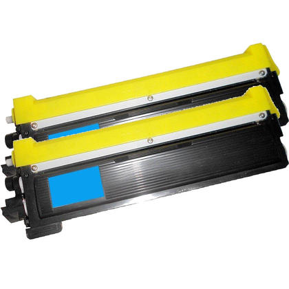 Compatible Brother TN-210 Toner Cartridge - Economical Box - Cyan-2/Pack