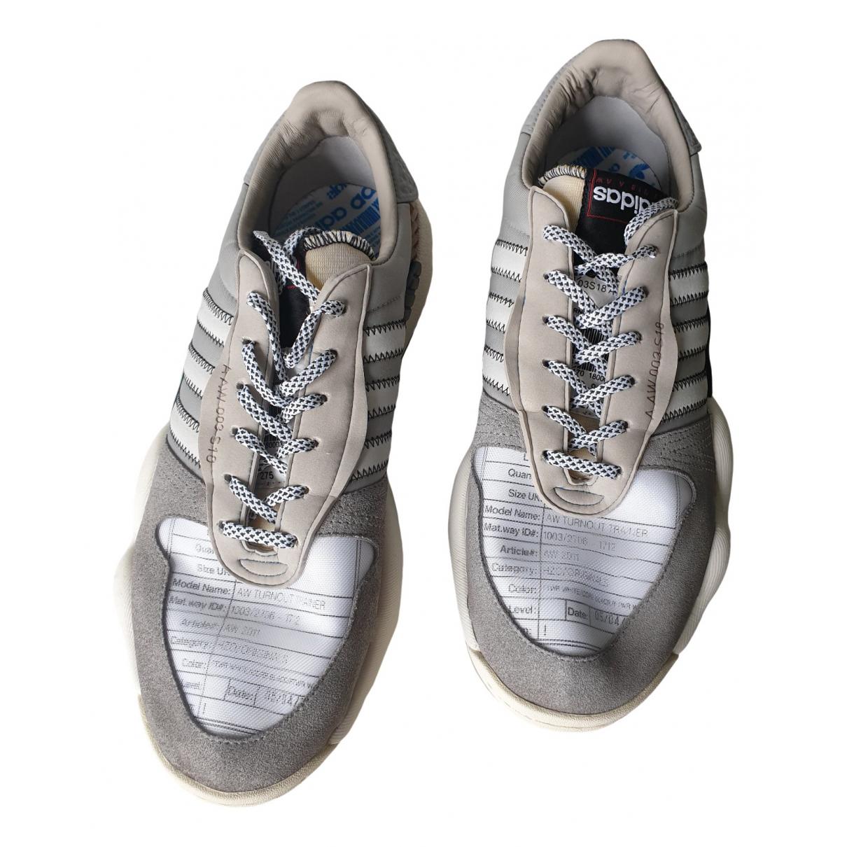 Adidas Originals X Alexander Wang \N Sneakers in  Grau Leder