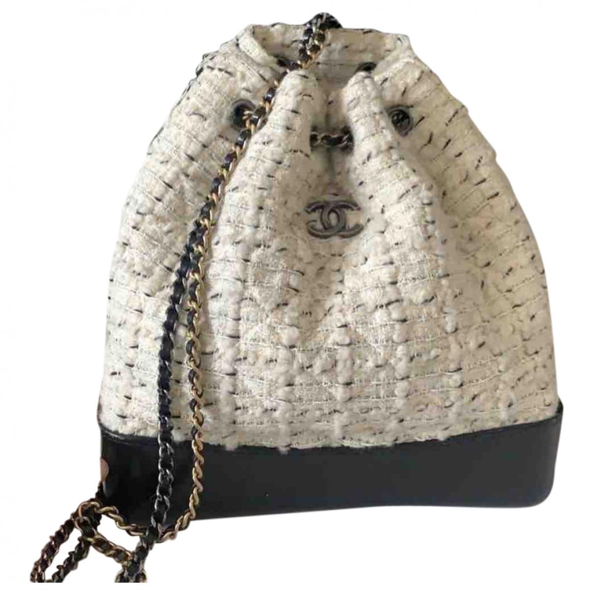 Chanel \N Handtasche in  Weiss Tweed