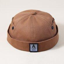 Sombrero de propietario de hombres con parche de letra