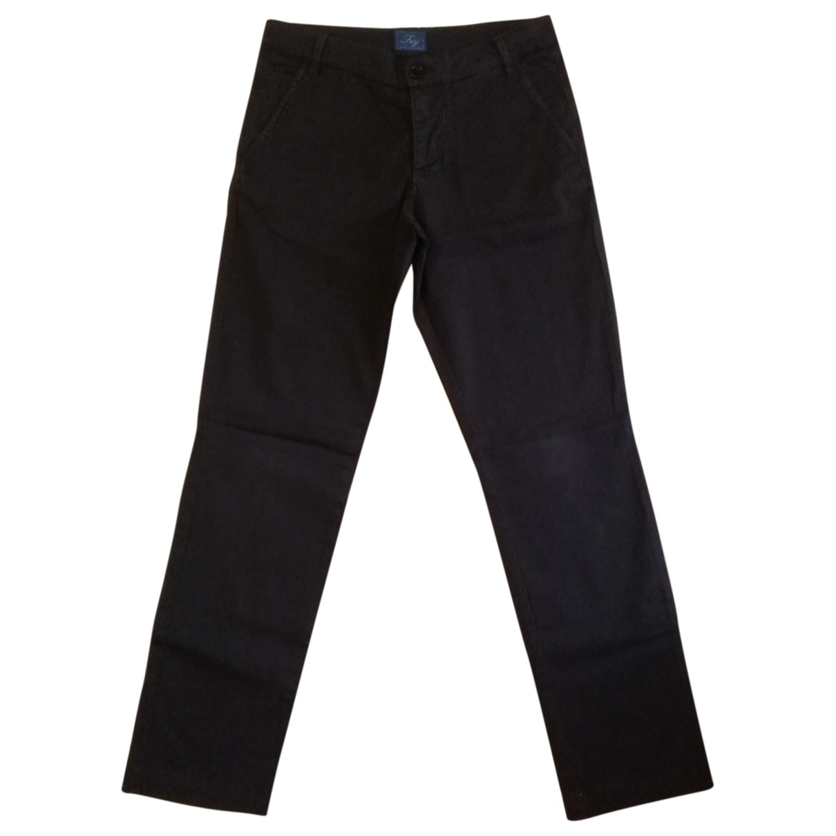Fay \N Blue Cotton Trousers for Kids 10 years - up to 142cm FR