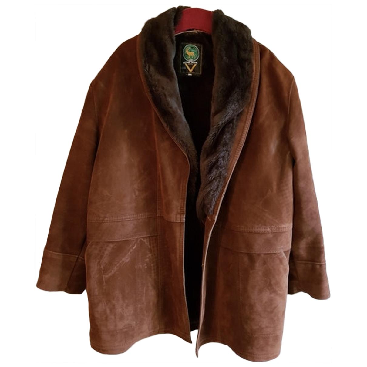 - Manteau Oversize pour homme en mouton - marron