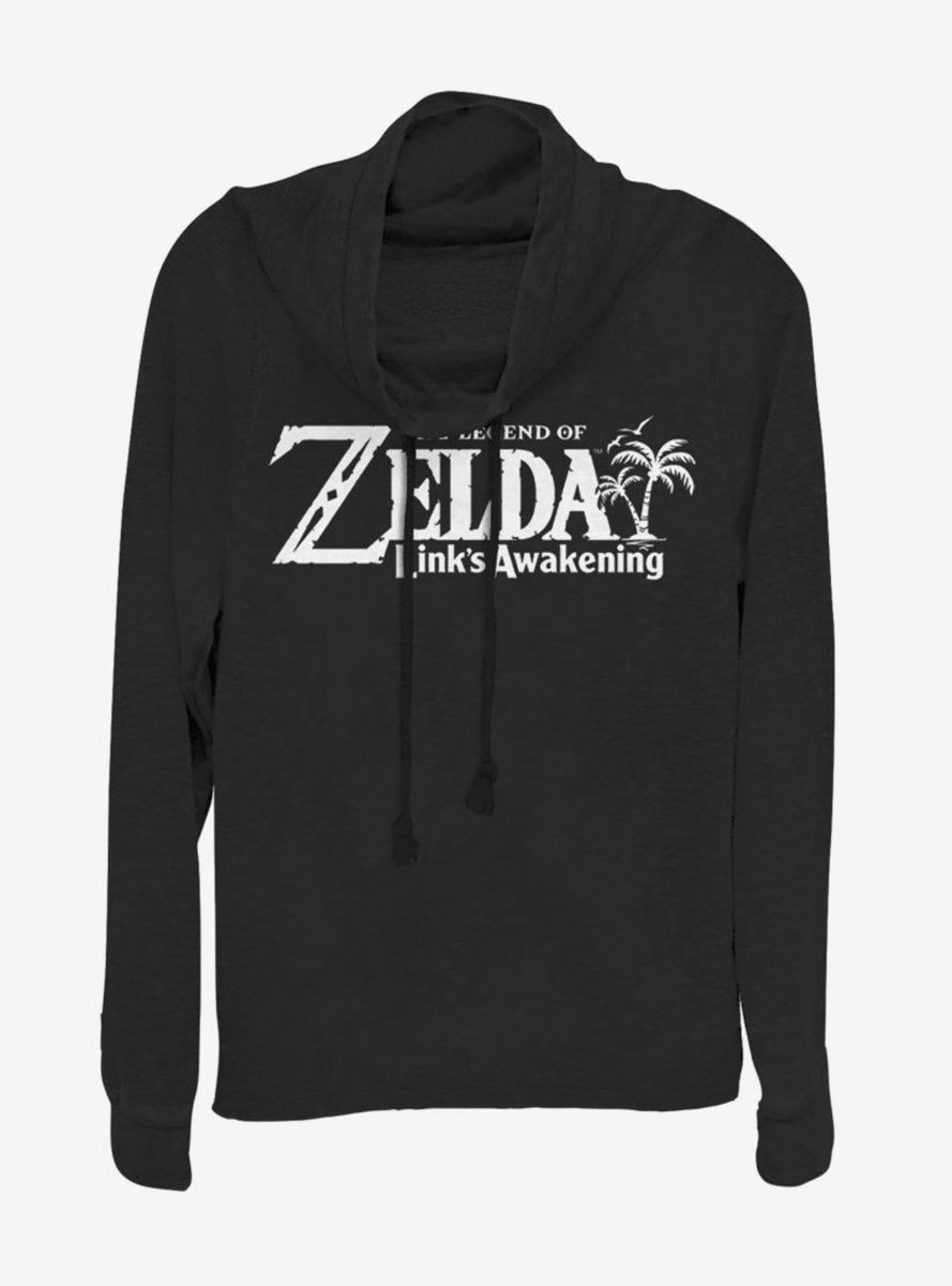Nintendo Zelda Link's Awakening Logo Cowlneck Long-Sleeve Womens Top