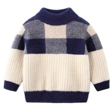 Pullover mit Karo Muster
