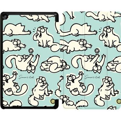 Amazon Fire HD 8 (2018) Tablet Smart Case - Simon´s Cat Green Pattern von Simons Cat