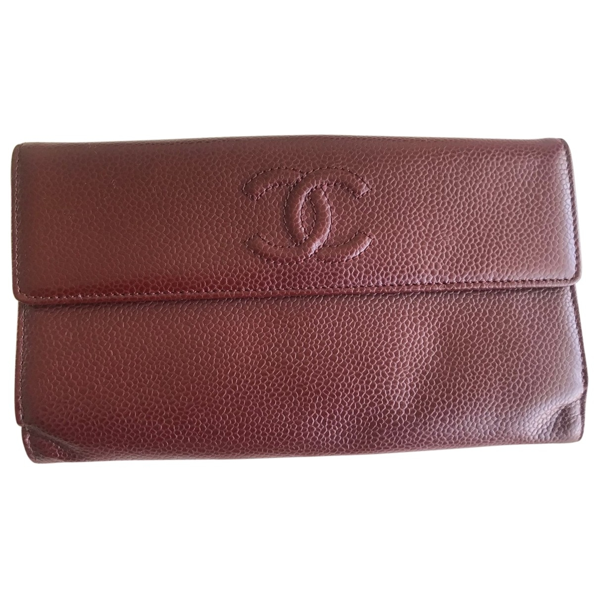 Chanel \N Burgundy Leather wallet for Women \N