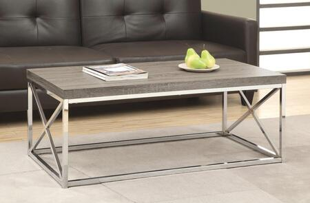 I 3258 Coffee Table - Dark Taupe with Chrome
