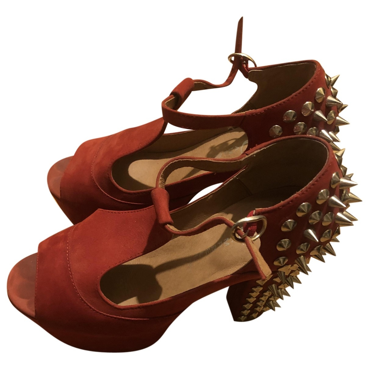 Jeffrey Campbell \N Red Leather Sandals for Women 39 EU