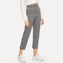 Pantalones tobilleros de cuadros