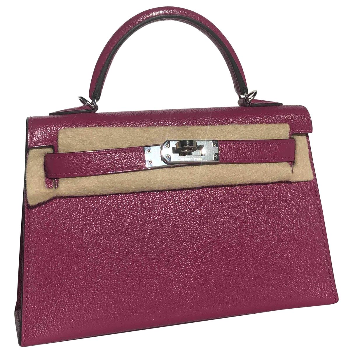Hermès Kelly Mini Pink Leather handbag for Women \N