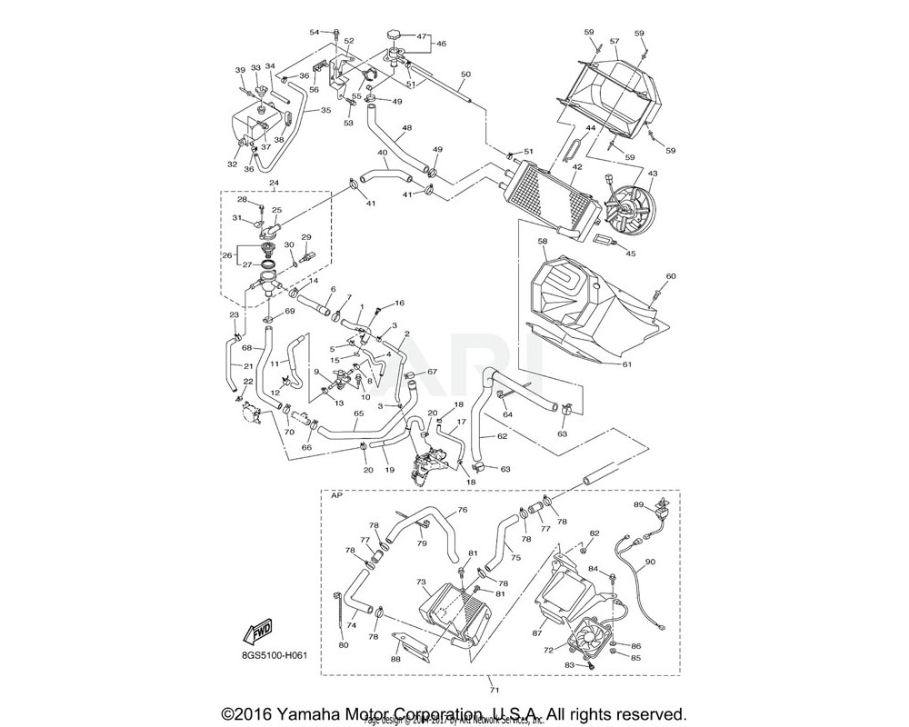Yamaha OEM 8FN-12410-00-00 THERMOSTAT ASSY