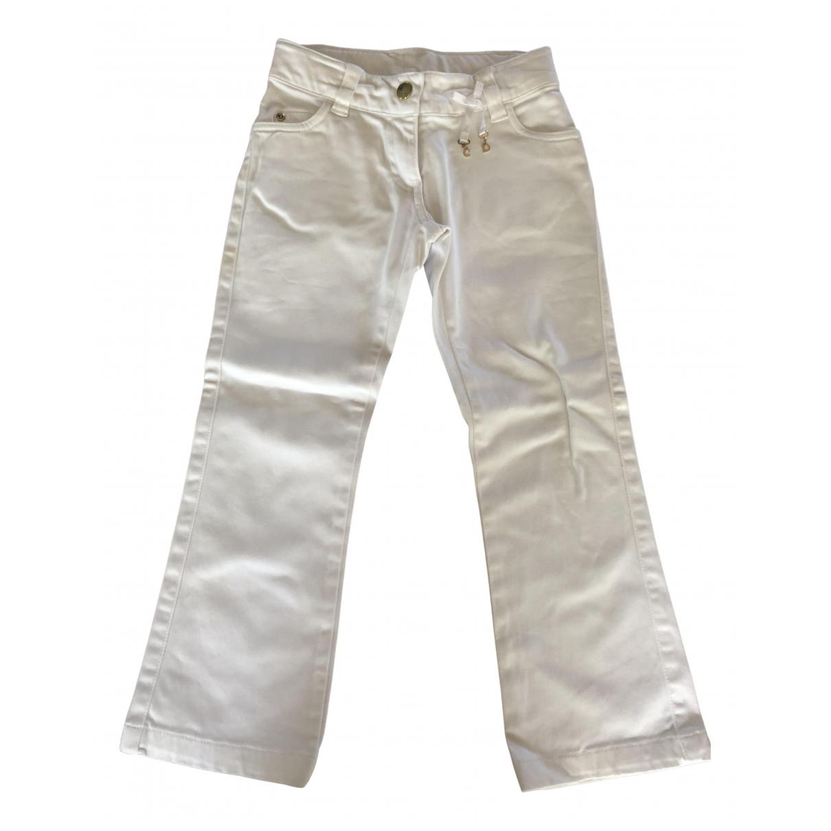 Dior - Pantalon   pour enfant en coton - blanc